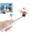 Monopod extensibil cu declansator camera Apple iPhone 5c Bluetooth Selfie 1.1m alb