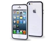 Rama protectie silicon TPU Apple iPhone 5 neagra alba