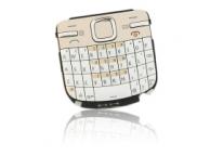 Tastatura Nokia C3 alba aurie Originala