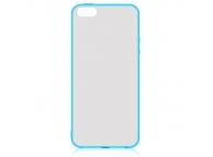 Husa plastic Apple iPhone 5 Hybrid albastra