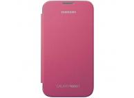Husa piele Samsung Galaxy Note II N7100 EFC-1J9FP Flip roz Originala