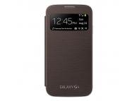 Husa piele Samsung I9500 Galaxy S4 EF-CI950BA S-View maro Blister Originala