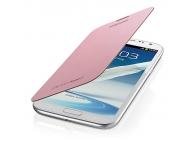 Husa piele Samsung Galaxy Note II N7100 EFC-1J9FI Flip roz Blister Originala