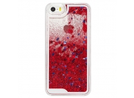 Husa plastic Apple iPhone 5 Glitter rosie