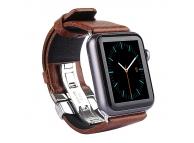 Curea Piele Apple Watch 42mm Kakapi Double Buckle Maro Blister Originala