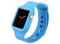 Bratara TPU Apple Watch 38mm Baseus Fresh Color albastra Blister Originala