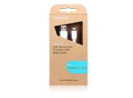 Cablu de date Apple iPhone 5 USAMS alb Blister Original