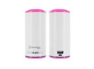 Difuzor Bluetooth cu Acumulator Extern 7800mAh BiLiTong roz Blister Original