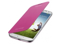 Husa piele Samsung I9500 Galaxy S4 EF-FI950BP roz Blister Originala