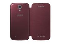 Husa piele Samsung I9500 Galaxy S4 EF-FI950BR rosie Blister Originala