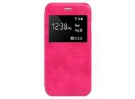 Husa piele Apple iPhone 6 Plus Cowhide roz