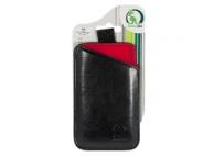 Husa piele LG Optimus Black P970 SlimUp neagra rosie