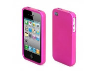 Husa plastic Apple iPhone 4 Griffin Outfit Ice roz Blister Originala