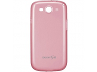 Husa silicon TPU Samsung I9300 Galaxy S III EFC-1G6WPE roz Blister Originala