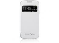 Husa piele Samsung I9190 Galaxy S4 mini EF-CI919BW S-View alba Blister Originala