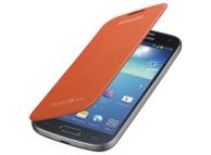 Husa piele Samsung I9190 Galaxy S4 mini EF-FI919BO portocalie Originala