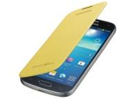 Husa piele Samsung I9190 Galaxy S4 mini EF-FI919BY galbena Originala