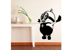 Sticker decorativ perete Minion Happy