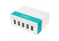 Adaptor priza USB x 5 porturi Remax RU-U1 2.4A alb Blister Original