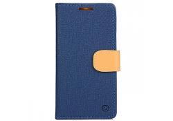 Husa textil Vodafone Smart prime 6 Book Denim bleumarin