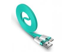 Cablu de date Apple iPhone 5 USAMS U-Like turquoise Blister Original