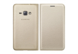 Husa piele Samsung Galaxy J1 (2016) EF-WJ120PF Aurie Blister Originala