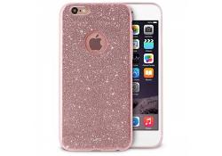 Husa silicon TPU Apple iPhone 6 Puro Glitter Shine Roz Blister Originala