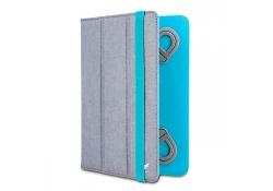 Husa textil Beeyo Dual Colour 7 - 8 inci Gri - Turquoise Blister Originala