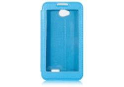 Husa piele LG L70 Window Touch blue
