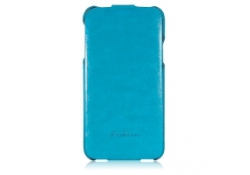 Husa piele Samsung Galaxy S5 G900 Luxury albastra