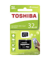 Card Memorie MicroSDHC Toshiba M203 cu adaptor, 32Gb, Clasa 10 - UHS-1 U3, Blister THN-M203K0320EA