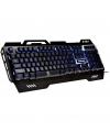 Tastatura Gaming cu fir Rebeltec DEFENDER, Aluminiu, 3 x iluminare LED, Neagra, Blister RBLKLA00019