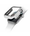 Husa Protectie Ceas UNIQ Torres 9H pentru Apple Watch Series 4 Aluminum / Apple Watch Edition Series 5 / Apple Watch Series 6, 44mm, Alba