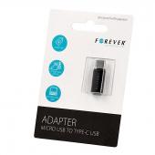 Adaptor MicroUSB (Mama) la USB Type-C (Tata) Forever Blister