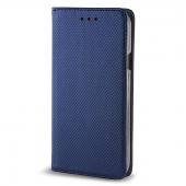 Husa Piele Samsung Galaxy J3 (2016) J320 Case Smart Magnet Bleumarin