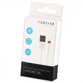 Cablu de date Apple iPhone 5 Forever 1m alb