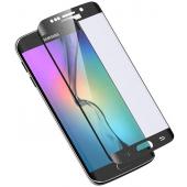 Folie Protectie ecran antisoc Samsung Galaxy S6 edge G925 Tempered Glass Full Face Neagra Glitter Blueline Blister