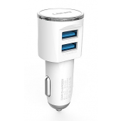 Incarcator Auto Dual USB Lightning Ldnio DL-C29 3.4A Alb Blister Original