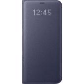 Husa textil Samsung Galaxy S8+ G955 LED View EF-NG955PVEGWW Mov Blister Originala