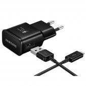 Incarcator retea MicroUSB Samsung EP-TA20EBE, Fast Charging, Negru, Bulk