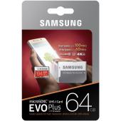 Card memorie MicroSDXC Samsung EVO cu adaptor 64GB UHS-I U3 MB-MC64GA/EU Blister