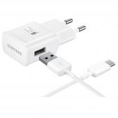 Incarcator retea USB Type-C Samsung EP-TA20EWEC Fast Charging Alb Original