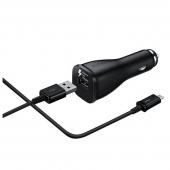 Incarcator auto USB Type-C Samsung EP-LN915CBE, Fast Charging, Negru