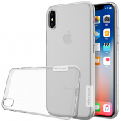 Husa silicon TPU Apple iPhone X Nillkin Nature transparenta Blister Originala