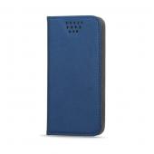 Husa piele Case Smart Magnet pentru telefon 4.7 - 5.3 inci, dimensiuni interioare 145 x 75 mm, bleumarin