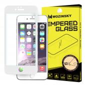 Folie Protectie ecran antisoc Apple iPhone 6 WZK Tempered Glass Full Face 5D alba Blister Originala
