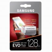 Card memorie MicroSDXC Samsung EVO Plus cu adaptor 128GB Clasa 10 UHS-1 Blister MB-MC128GA/EU