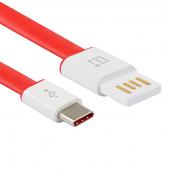 Cablu date USB - USB Type-C OnePlus 1m rosu Original