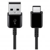 Cablu Date si Incarcare USB - USB Type-C Samsung EP-DG930IBEGWW 1.5m, Negru, Blister Original