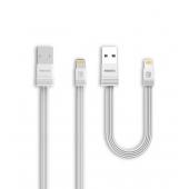 Set Cablu de date Lightning Remax RC-062m Tengy, 2.1A, 1m / 16cm, Alb, Blister